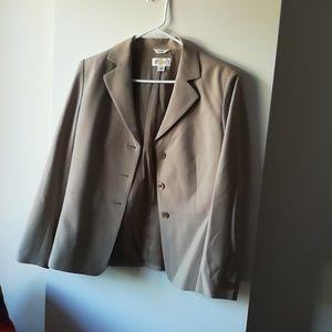Talbot's khaki pantsuit